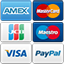 Cards accepted - AMEX, MasterCard, JCB, Maestro, Visa & Paypal