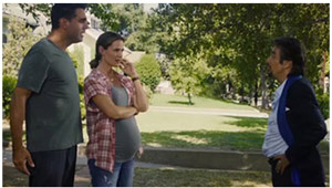Fake Pregnant Belly by Moonbump, Danny Collins, 2015 dir. Dan Fogelman