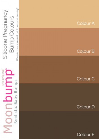 Silicone Fake Pregnant Belly Skin Tone Colours